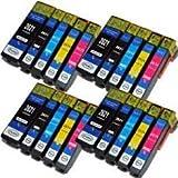 Odyssey Supplies® - Compatible Ink Cartridges for Epson expression premium printers XP-600, XP-605, XP-700, XP-800, XP600, XP605, XP700, XP800, (20 carts (4 sets))