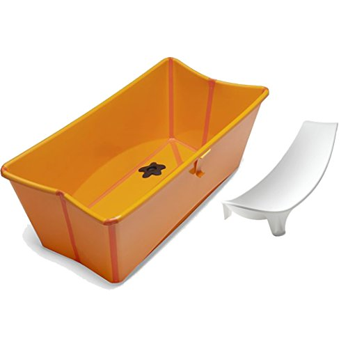Stokke Flexi Bath In Orange With Newborn Support
