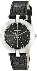 Timex Women's TW2P79300AB City Collection Analog Display Quartz Black Watch