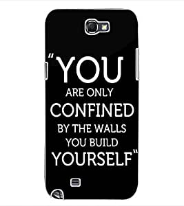 ColourCraft Quote Design Back Case Cover for SAMSUNG GALAXY NOTE 2 N7100