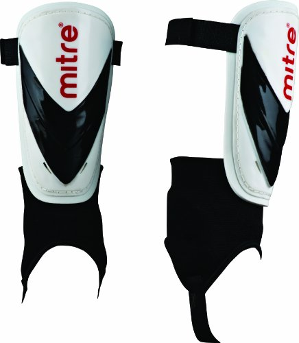 Mitre Mayan Shinguard - White/Black/Red, X-Small