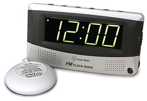 Sonic Alert SBR350ss Sonic Boom Vibrating Alarm Clock FM Radio