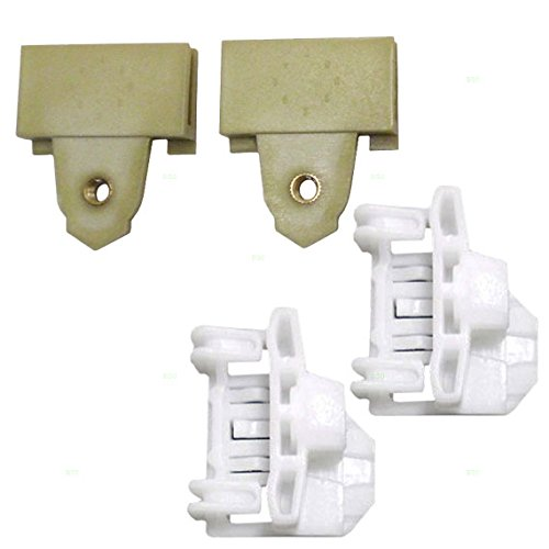 4 Piece Set of Front Left Drivers Window Regulator Repair Glass Channel Guides with Sash Connector Clips 22689012 22697622 (Window Regulator Sash Connector compare prices)