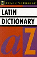Latin Dictionary  by Wilson