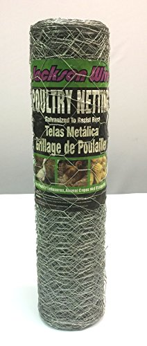 Jackson Wire, 20 Gauge Galvanized Poultry Netting, 2