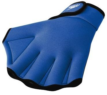 Speedo Aqua Fit Training Swim Gloves (Large, Royal Blue) image