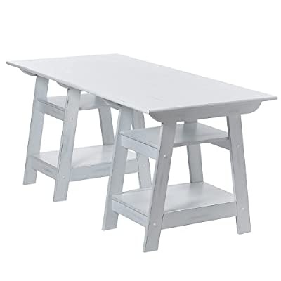 Madison Trestle Desk - Antique White