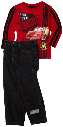 Nannette Boys 2-7 Cars 2 Piece Pant Set