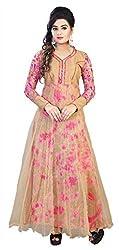 AVSAR PRINTS Women's Georgette Dress Material (Beige)