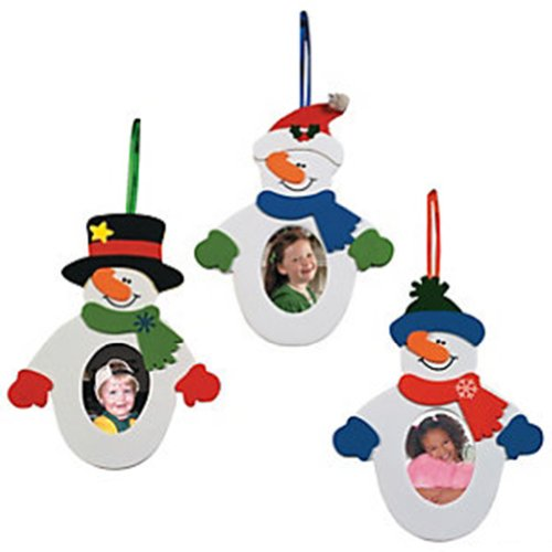 Snowman Photo Frame Ornament Craft Kit (12 piece)/Self-adhesive Foam (Photo Frame Craft compare prices)