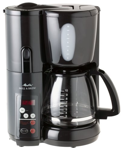 Melitta MEMB1B Mill & Brew 10-Cup Coffeemaker Via Amazon