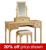 Aspley Dressing Table Stool and Mirror Set