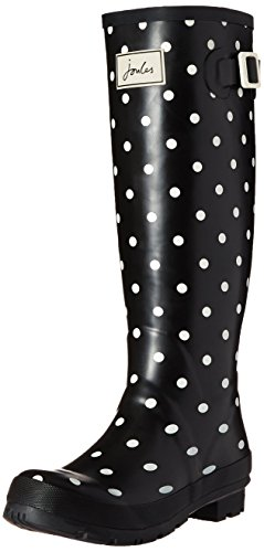 Joules Women's Wellyprint Rain Boot, Cream Spot White, 8 M US (Joules Rain Coat compare prices)