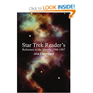 Star Trek Reader's Reference to the Novels: 1986-1987 by Alva Underwood