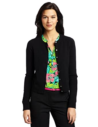 Lilly Pulitzer Women's Caroline Cardigan Sweater, Black, Small