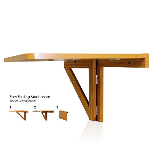 Furinno Fnaj 11019ex Wall Mounted Drop Leaf Folding Table