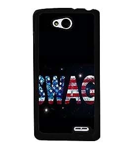 SWAG 2D Hard Polycarbonate Designer Back Case Cover for LG L90