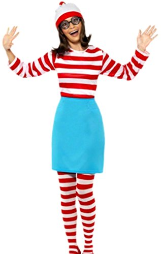 erdbeerloft - Damen Wo ist Walter? Wanda Wally-Kostüm, Kostümset, Karneval, 36, Mehrfarbig