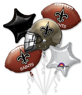 Anagram International Bouquet Saints Party Balloons, Multicolor from SteelerMania