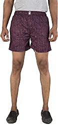 Urbantouch Men's Relaxed Boxer Shorts (Csmyx-51004, Maroon, 34)