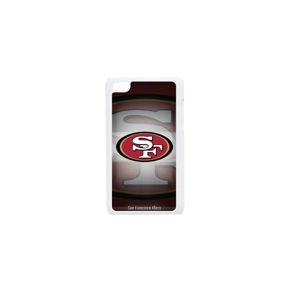 WY Supplier NFL San Francisco 49ers Case Cover for Ipod touch 4th Cases 49ers logo White Color WY Supplier 145913  Sports Fan Cell Phone Accessories  Sports & Outdoors
