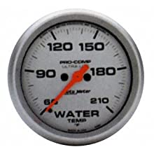 Auto Meter 4369 Ultra-Lite Electric Water Temperature Gauge