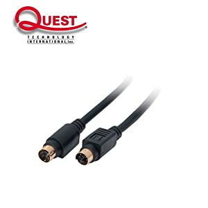 Quest VCA-5212 SVHS Cable Mini-Din4 Male Male Gold-Plated 12FT