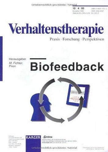 Biofeedback: `Verhaltenstherapie', Band 10, No. 4 (2000) Herausgeber PDF