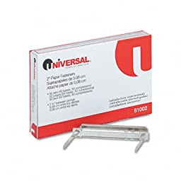 Universal : Complete Two-Piece Paper File Fasteners, 2\