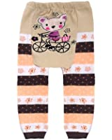 Baby - Toddler Unisex Trousers / Leggings - Teddy on bicycle
