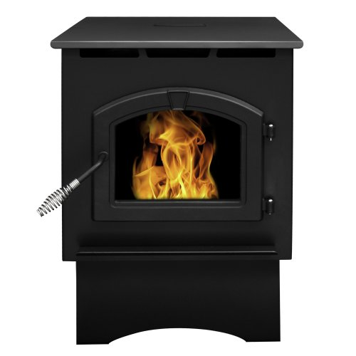 Best Review Of Pleasant Hearth Medium 35000 BTU's Pellet Stove with 40-Pound Hopper