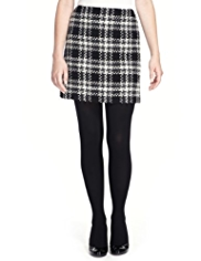 Petite Tartan Mini Skirt with Wool