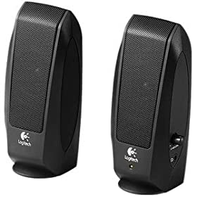 Logitech S120 2.0 Multimedia Efficient Sookshelf Speakers (Black)
