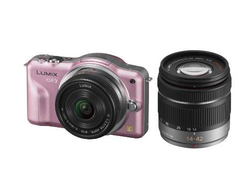 Panasonic デジタル一眼カメラ LUMIX GF3 ダブルレンズキット フェアリーピンク DMC-GF3W-P