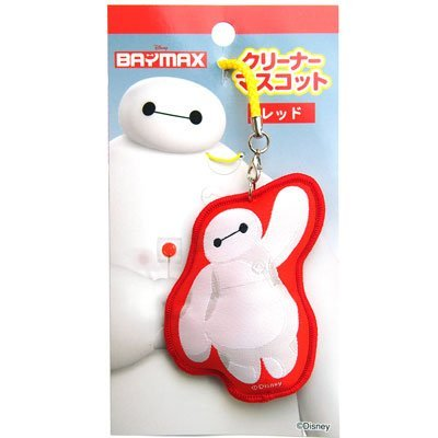 Japan Disney Official Big Hero 6 - Baymax Cute White Red Mascot Soft Metal Smartphone Charm Strap String Clip Purse Pouch Keychain Key Chain Cell Phone Ring Holder Pendant Dangle Decor Accessory