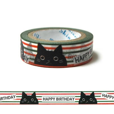 MKT8111 [ Black cat ] Shinzi Katoh Masking tape シンジカトウ マスキング テープ