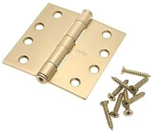 "Stanley Hardware CDf179 3-1/2"" X 3-1/2"" Full Mortise StandaRD Weight Hinge in Satin Brass"