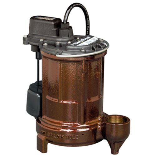 Liberty Pumps 257-2 Automatic Submersible Sump Pump w/ Vertical Magnetic Float Switch 1/3HP, 115V, 25' Cord, Cast Iron