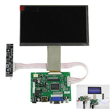 "Commoon Ships In 24 Hours 7"" Digital Lcd Screen + Drive Board (Hdmi + Vga + 2Av) For Raspberry Pi / Pcduino / Cubieboard"