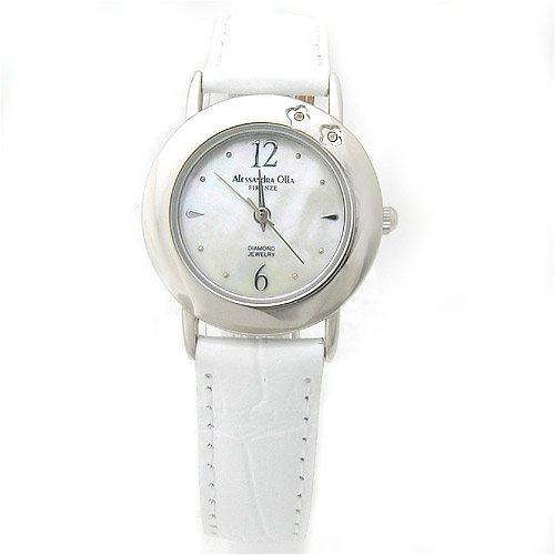 Alessandra Olla (アレサンドラオーラ) 腕時計 ダイヤ2石 AO-6900 WH レディース