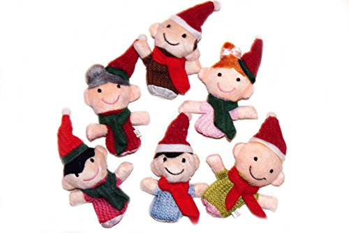 Story Time Christmas Family Finger Puppets - 6 pcs