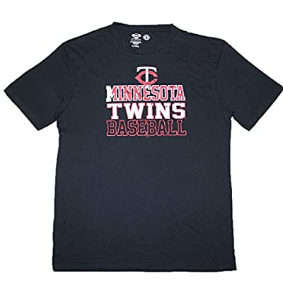 MLB MINNESOTA TWINS Mens Short Sleeve T Shirt (Vintage Look)