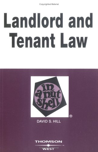 Landlord and Tenant Law in a Nutshell (Nutshell Series)