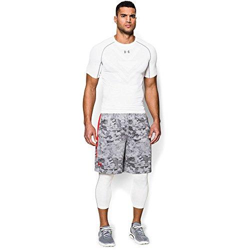 "Under Armour Men's HeatGear Raid Printed 10"" Shorts XX-Large Grey Orange"