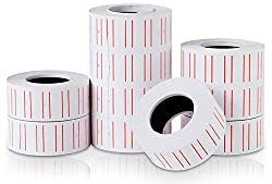 Shopo's 10Rolls/lot Single Row Label Paper Price Sticker Roll for Offices & Markets