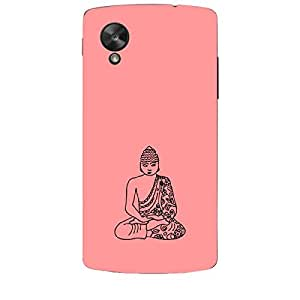 Skin4gadgets Lord Gautum Buddha-Line Sktech on English Pastel Color-Peach Phone Skin for NEXUS 5