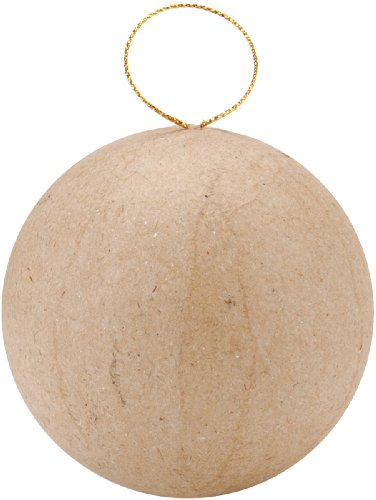 Darice Paper Mache, 2.5-Inch, Ball Ornament