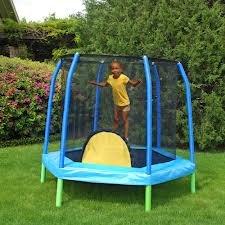 Bazoongi-88-Hexagonal-Kids-Combo-Trampoline-and-Enclosure-Bazoongi-Kids