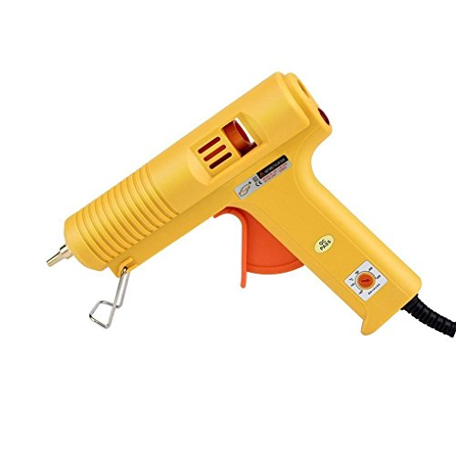 Hot Glue Gun Adiustable Temperature 100W Melting Glue Gun for DIY craft buliding and home and office quick repairs yellow (Upholstery Spray Glue Gun compare prices)