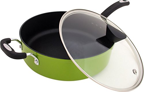 The Green Earth All-In-One Sauce Pan by Ozeri, with Ceramic Non-Stick Coating from Germany (100% PFOA & APEO Free) (Ceramic Nonstick Sauce Pan compare prices)